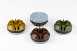 A set of 9 NATO polishing pads with gradations of 50,100,200,400,800