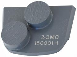 X2B FOR MEDIUM HARD CONCRETE, Superabrasive double (round) diamond segment