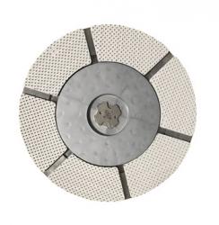 Quickchange adapter to mounting diamond pads on Lavina machines