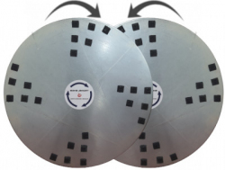 Zestaw dysków do zacieraczki 2x920 mm z 24 rzepami Velcro do końcowego polerowania