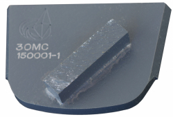 DO ŚREDNIO TWARDEGO BETONU segment diamentowy pojedynczy prostokątny