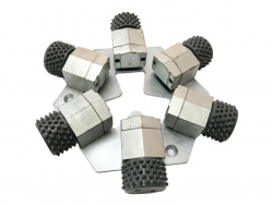 6 bush hammerów Grey Line 100 pinów z płytą montażową do Lavina