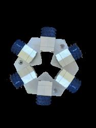 6 bush hammerów Blue Line 45 pinów z płytą montażową do Lavina
