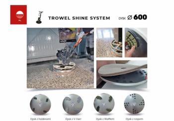 Trowel Shine  Zestaw Combo 1X do zacieraczki 600 mm