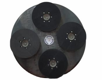 Zestaw dysków do zacieraczki 2x920/940/970mm z 4 głowicami obrotowymi na rzep