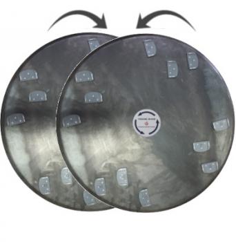 Zestaw dysków do zacieraczki 2x920 mm z 12 holderami XQC Lavina