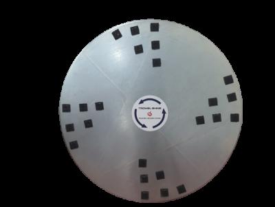 Zestaw dwóch dysków do zacieraczki 2x1170 mm z 24 rzepami Velcro do końcowego polerowania