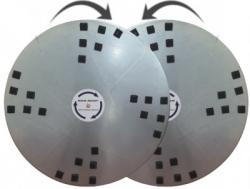 Комплект из двух дисков для затирочной машины 2x1170 мм с липучкой 24 для окончательной полировки