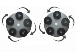 Комплект дисков для затирочной машины 2x1170 / 1230 мм с вращающимися головками на липучке
