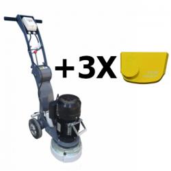 Шлифовальная машина для бетона 250 мм EX-250L + 3 сегмента для мягкого бетона